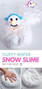Snow Slime Diy Anleitung: Rezept Für Fluffigen Schnee Schleim – Österliches Ba…