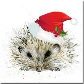 Igel Weihnachtskarte Vogel Und Tierfeiertags Karte Waldland Igel Karte Weihnachten I In 2020 Pet Holiday Cards Hedgehog Christmas Watercolor Christmas Cards