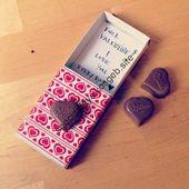 Geschenk zum Valentinstag schnell und einfach – #einfaches #Geschenk #schnell #u…
