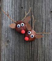 Was kann man mit Kastanien basteln? – 17 Ideen für Erwachsene und Kinder #dek… – Weihnachten basteln mit kindern
