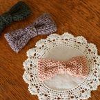 タイプc かわいい編み地で おとなリボンの作り方 編み物 編み物 手芸 ソーイング アトリエ 手芸 編み物 かぎ針編み 花 ヘアゴム