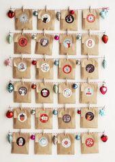 Make advent calendars – 10 creative craft ideas  – Adventskalender