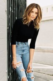 Best 30 chic looks for the turtleneck sweater outfits in 2018 #best #looks #outfits #roll collar sweater #schicke