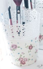 My makeup table I love flowers and flowers so I have hair … – woh …