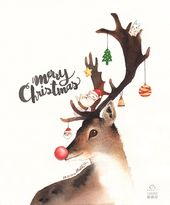 """Photo of @nabbit auf Instagram: """"Frohe Weihnachten !!!! Liebe euch alle. #nabbit #nabbitdesign #aquarell #aquarelle"""