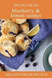 Super Easy Blueberry and Lemon Scones