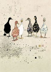 Six Ducks – Bug Art greeting card – Lydia Pflüger