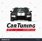 Car tuning shop poster vector banner, sticker symbol, sport auto service centre badge, technology sign, performance  #Ad , #SPONSORED, #auto#sport#sym…