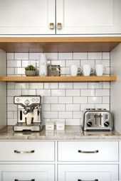 Built-in Kitchen Coffee Bar Ideas