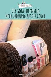 DIY Nähanleitung für ein Sofa-Utensilo – Mehr Ordnung auf der Couch