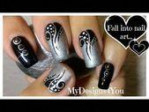 Nail Art: Tattoo, Black and Silver Nails ♥ Черно-серебрянный …