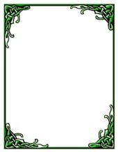Celtic Knot Border Green Stationery Print Ready Pdf File Green Stationery Celtic Celtic Border