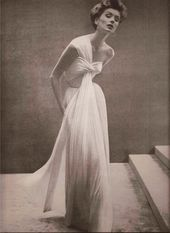 Gorgeous Grecian type robe!  Madame Gres, 1952 Ladies's classic trend phot…