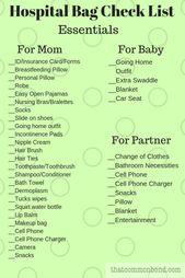 Tasche, Geburt, Geburtspläne, Checkliste, Lieferu…