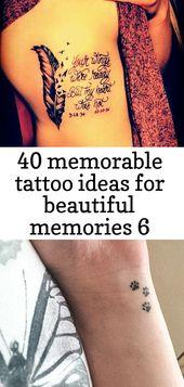 40 memorable tattoo ideas for beautiful memories 6