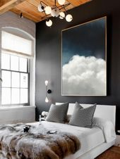 Wall Art, Cloud Painting, Ready to Hang Canvas, Ab…