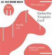Tutorial und Druckvorlagen: Deer Trophy ~ AU 303 HOME DECO   – Feste di natale