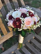 Boho Bouquet, Wedding Flowers, Wedding Bouquet, Silk Flower Bouquet, Bridal Bouquet, Silk Wedding Flowers, Rose Bouquet, Brides Bouquet