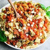 Meilleure recette de salade de pâtes avec vinaigrette maison   – A Food * Recipe * Smoothie