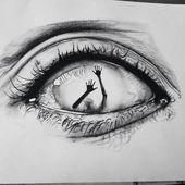 Auge Kunst und Zeichnungsbild #kunst #paintingartideas #zeichnungsbild #diytattooimages  diy tattoo images