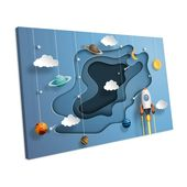 Mercury Row Canvas Print Planets Spaceships Rockets Bedroom Nurserywork | Wayfair.de