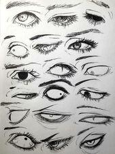 Zeichnungen, Manga, Anime, Augen, 18 Designs, zur Verbesserung Ihrer Zeichnung. …