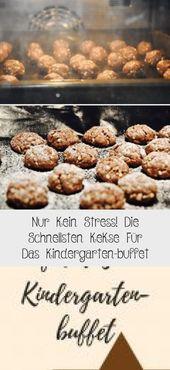 Nur Kein Stress! Die Schnellsten Kekse Für Das Kindergarten-buffet