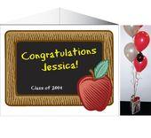 Graduation Party Blackboard Theme Centerpiece