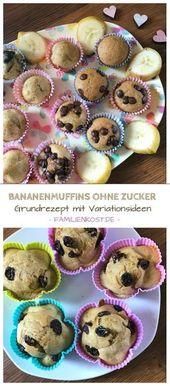 Bananenmuffins ohne Zucker auch für Baby und Kleinkind