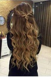 46 Ideas Hair Ideas For Graduation Curls Waterfall Braids For 2019 #hairbraids 46 Ideas Hair Ideas For Graduation Curls Waterfall Braids For 2019 #hai…