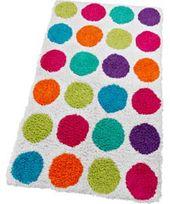 Colourmatch Spots Bath Mat Multi Bathroom Decor Accessories Colorful Bath Kid Room Decor