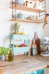 25 + › DIY-Etagere für Obst und Gemüse als Aufbewahrung für die Küche im schäbigen …