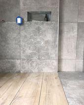 """Selina auf Instagram: """"Der heutige Badezimmerstand. Die Bierbar und alle anderen Fächer sind ebenfalls mit Holzfliesen gefliest. Das gefällt mir schon so …""""   – Badezimmer ♡ Wohnklamotte"""