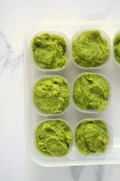 Purée de brocoli, d'avocat et de basilic (Aliments pour bébés riches en fer)   – It's What's for Dinner