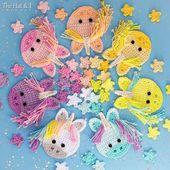 Crochet PATTERN – Magical Unicorns – crochet unicorn pattern & stars, Kawaii unicorns, ornament applique pattern – Instant PDF Download