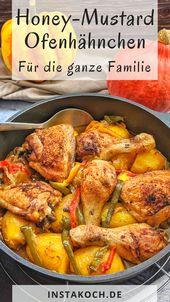 Eintopf-Honig-Senf-Hähnchen mit Kartoffeln und Gemüse aus dem Ofen   – Feelgoodfoodandmore │ Alle meine Kochrezepte