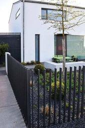 15 elegante und wunderschöne dekorative Aluminium Zaun Ideen