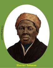 Harriet Tubman Clip Art Coloring Page Or Mini Poster Black And White Lines Afro Art Clip Art