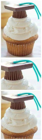 Pastelitos de graduación fácil ~ Son muy simples de hacer con la adición de …   – cakes