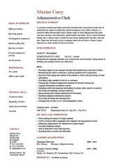 clerical job resume