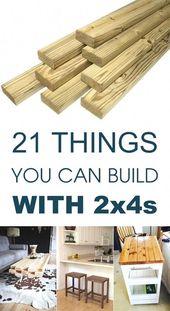 Hier sind 21 brillante Holzbearbeitungsprojekte, die mit einfachen 2x4s #DiyProjec beginnen …