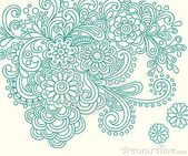 Doodle Henna Abstract Flowers Vector por Blue67, a través de Dreamstime – Pattern / Mus …   – Flowers