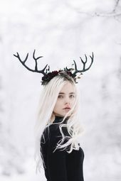Original People Photography by Jovana Rikalo | Conceptual Art on Paper | Deer Girl – Limited Edition of 15