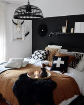 20 Best Black and White Bedroom Decor (Amazing!)   – träum süß