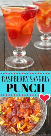 Himbeer Sangria Punch Rezept – bestes Getränk für eine Party oder Menge mit viel fr …   – Drinks