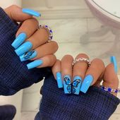 53 Elegant Light Blue Nail Art Designs Ideas #AcrylicNailsForSummer
