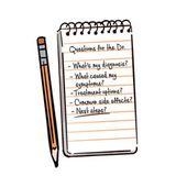 Beginnen Sie mit einigen Vorbereitungen. Machen Sie vor Ihrer Gesundheitsprüfung eine Liste aller Bedenken …   – Counseling