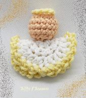 Simple Circle Angel Ornament~FREE Crochet Pattern, featuring Hobbii Cotton yarn
