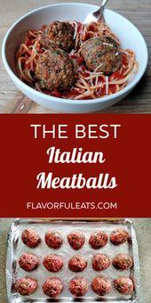 Die besten italienischen Fleischbällchen   – Main Course