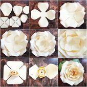 Plantillas y tutoriales de bricolaje de papel rosa gigante, decoración de fiesta de cumpleaños de jardín, pared de flores, archivos PDF imprimibles y corte SVG –   – Diy Wedding Shoes